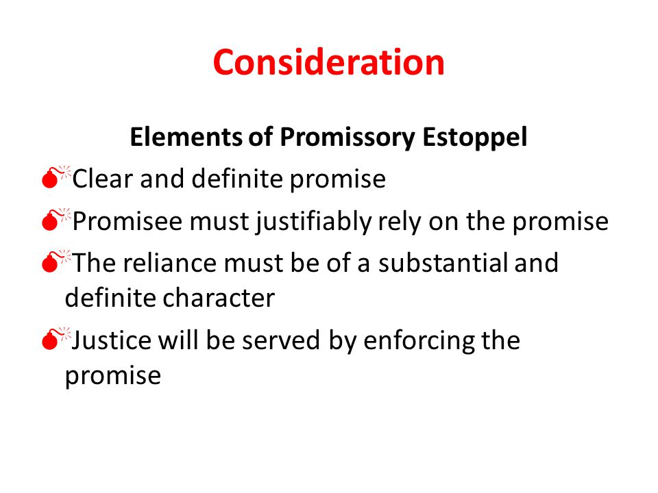 Elements of Promissory Estoppel