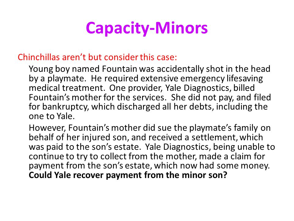 Capacity-Minors Chinchillas aren't but consider this case: