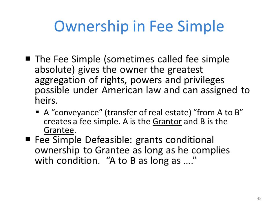 Ownership in Fee Simple