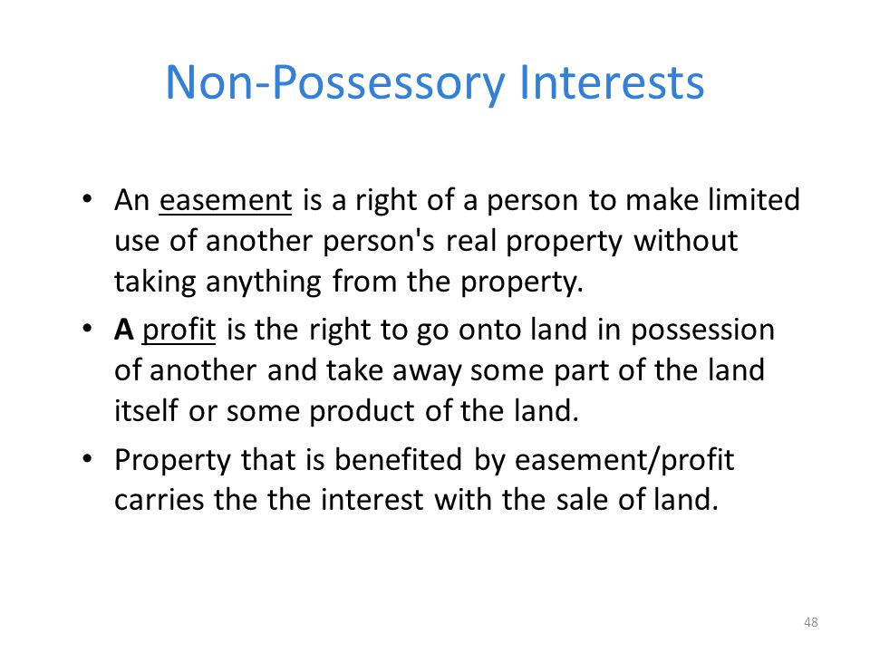 Non-Possessory Interests
