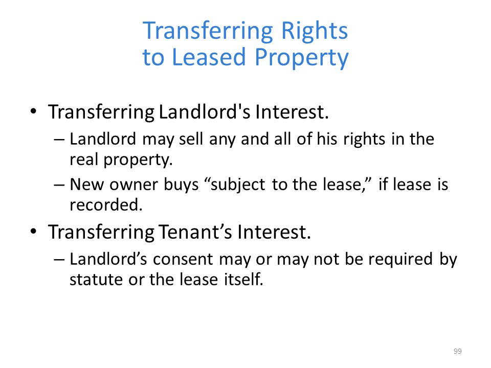 Transferring Rights to Leased Property