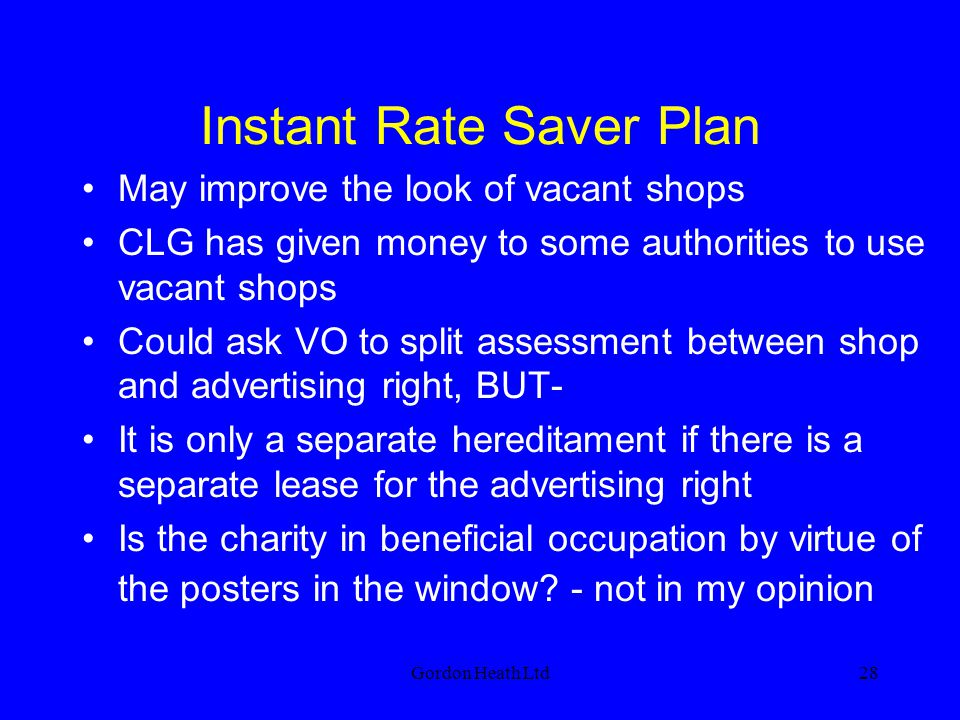 Instant Rate Saver Plan
