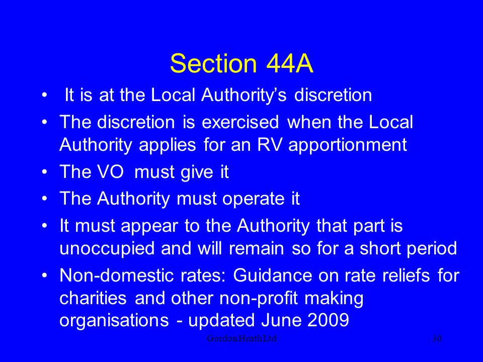 Section 44A It is at the Local Authority's discretion