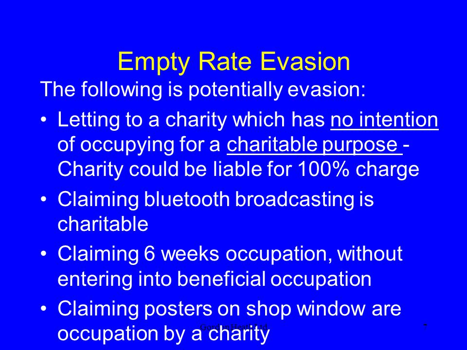 Empty Rate Evasion The following is potentially evasion: