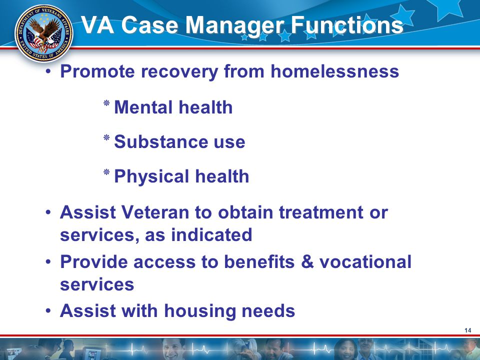 VA Case Manager Functions
