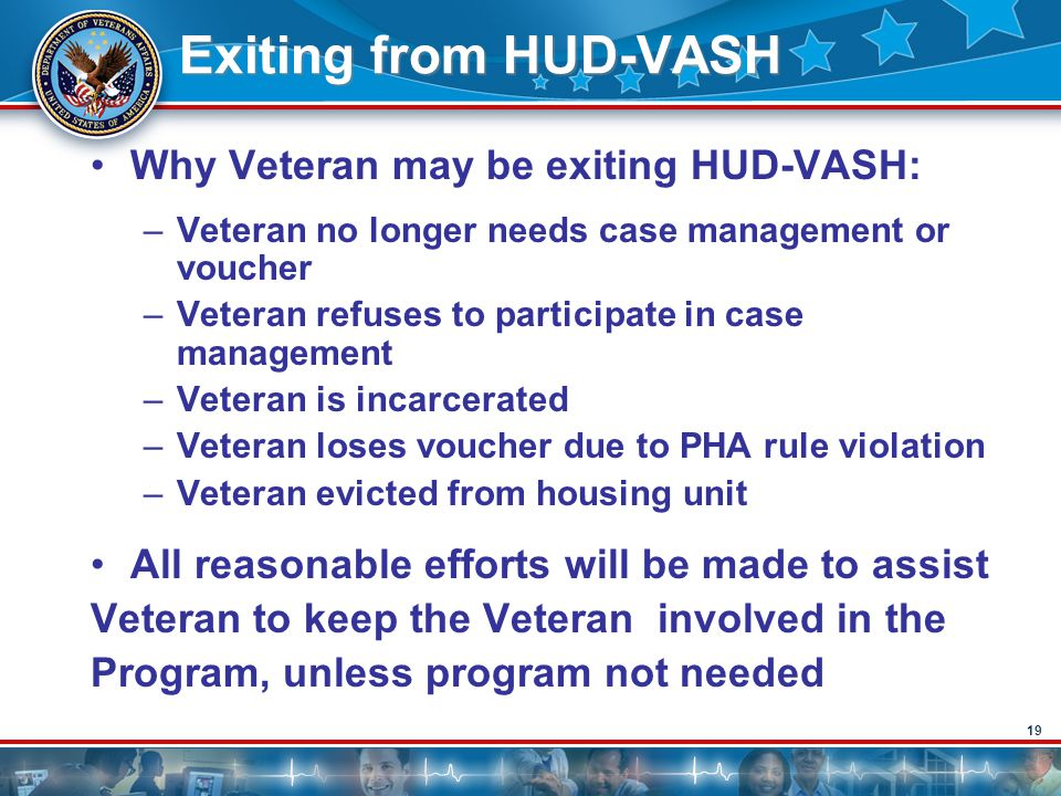 Exiting from HUD-VASH Why Veteran may be exiting HUD-VASH: