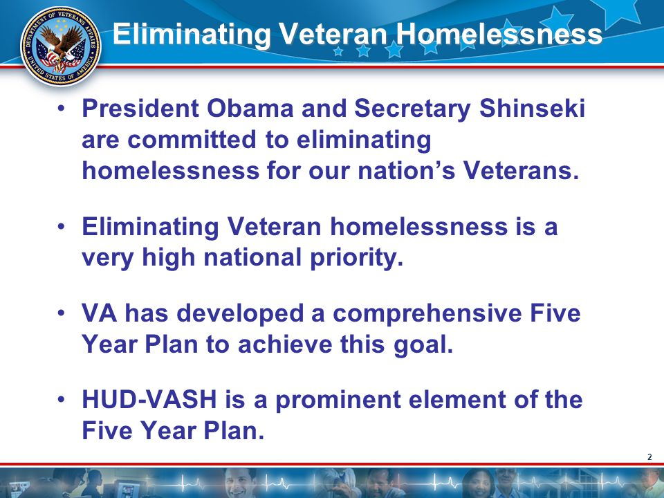 Eliminating Veteran Homelessness