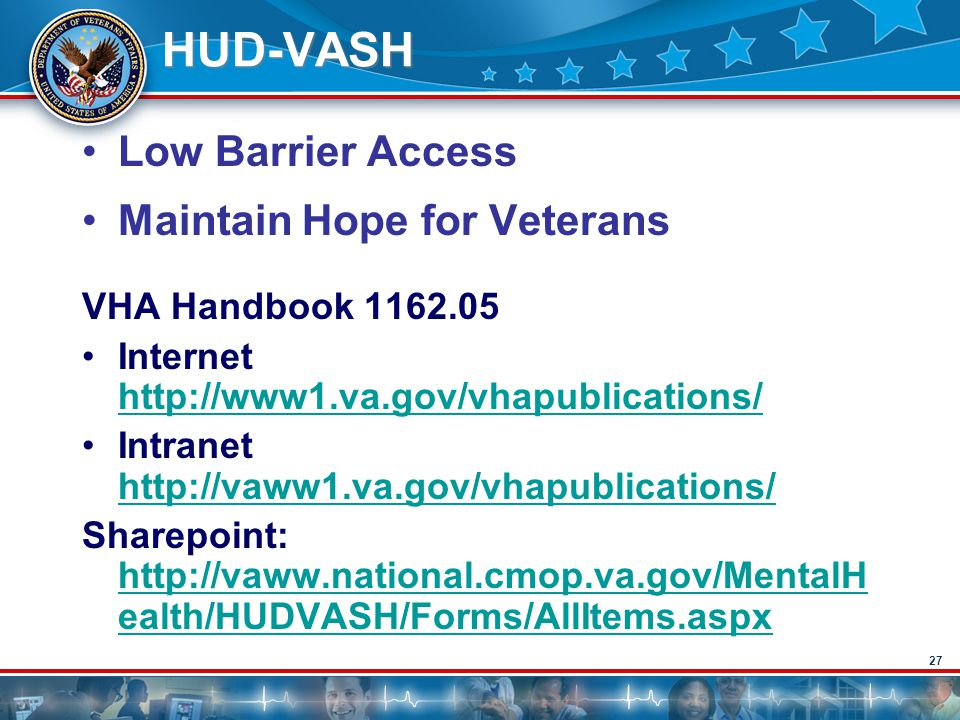 HUD-VASH Low Barrier Access Maintain Hope for Veterans