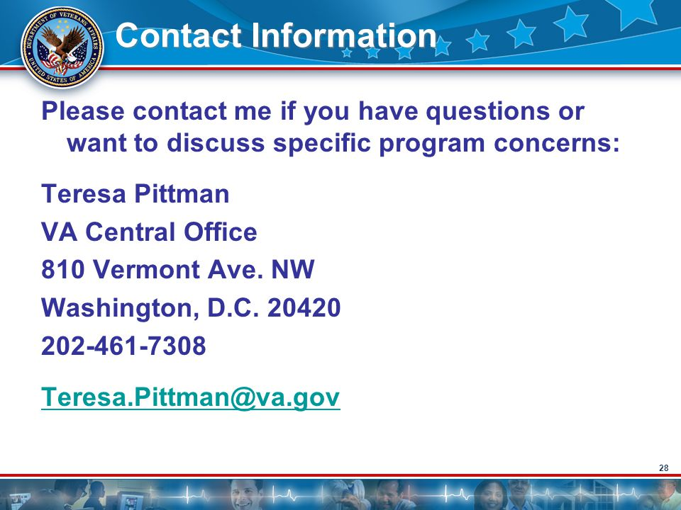 Contact Information Please contact me if you have questions or want to discuss specific program concerns: