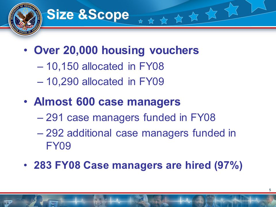 Size &Scope Over 20,000 housing vouchers Almost 600 case managers