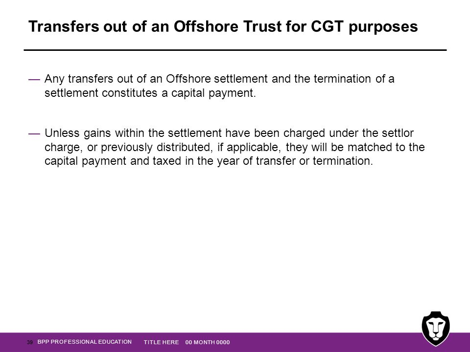 Transfers out of an Offshore Trust for CGT purposes