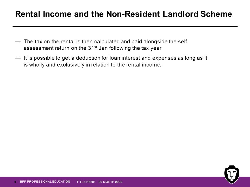 Rental Income and the Non-Resident Landlord Scheme