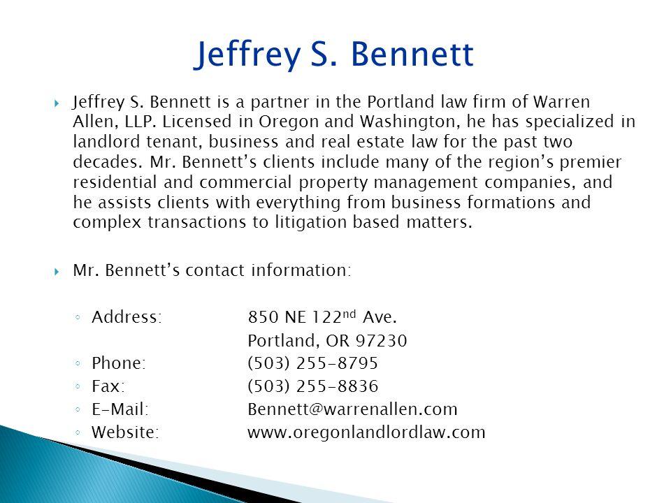 Jeffrey S. Bennett