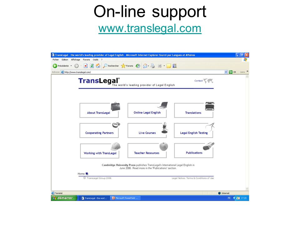 On-line support www.translegal.com