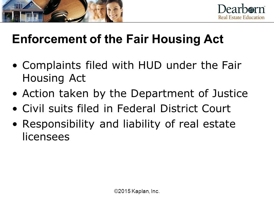 Enforcement of the Fair Housing Act