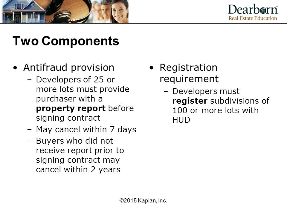 Two Components Antifraud provision Registration requirement