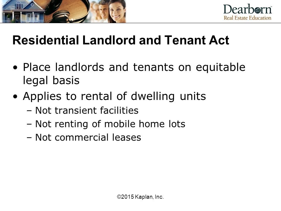 Residential Landlord and Tenant Act