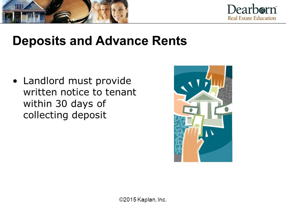 Deposits and Advance Rents