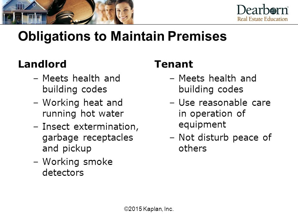 Obligations to Maintain Premises