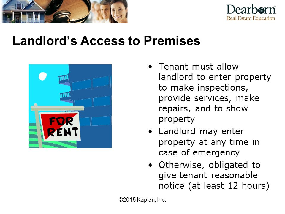 Landlord's Access to Premises