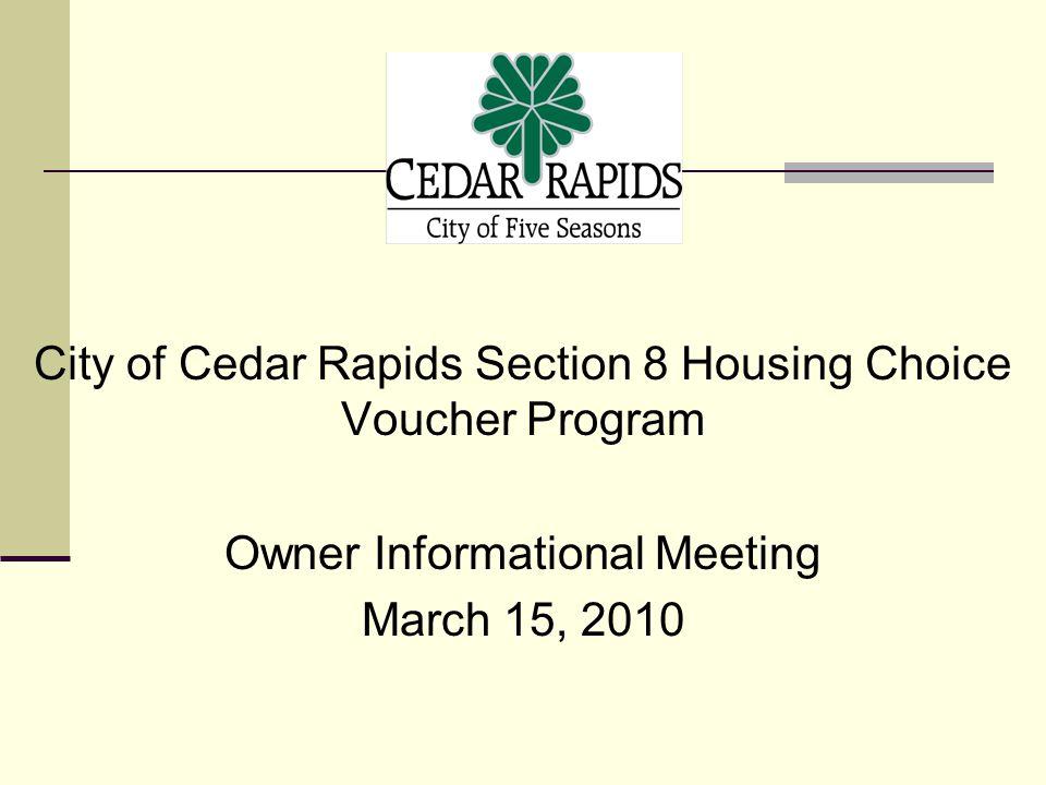 City of Cedar Rapids Section 8 Housing Choice Voucher Program