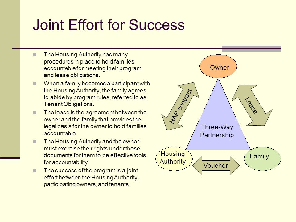 Joint Effort for Success