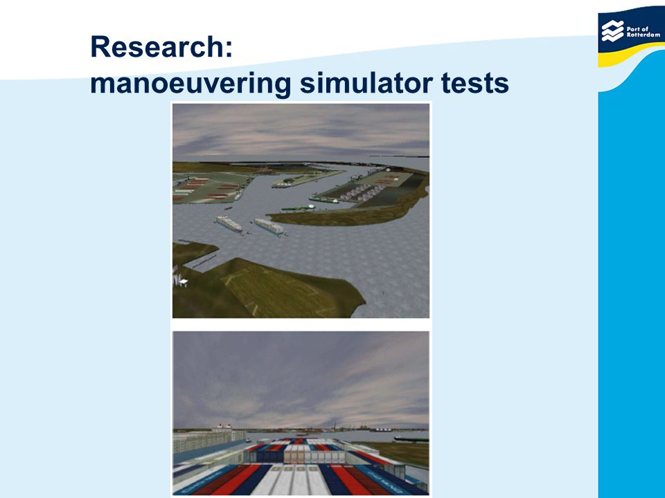 Research: manoeuvering simulator tests