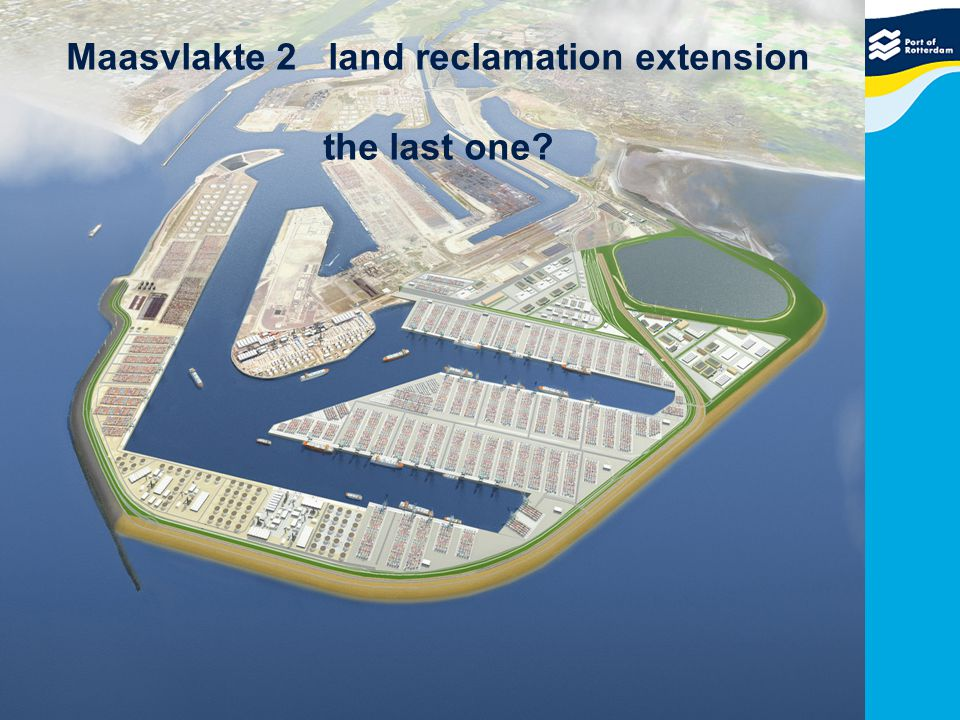 Maasvlakte 2 land reclamation extension the last one