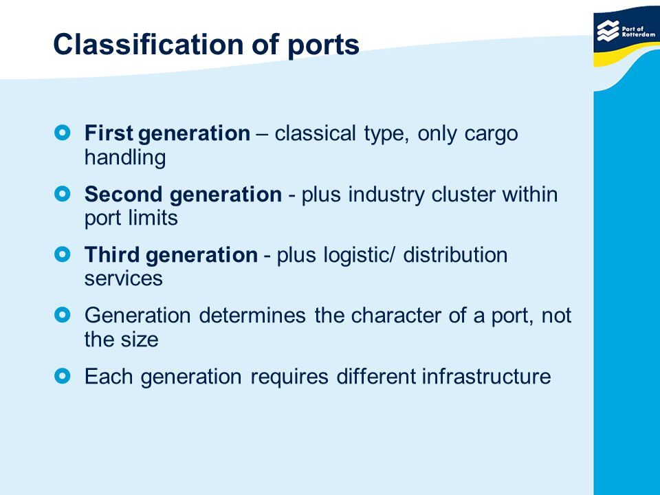 Classification of ports