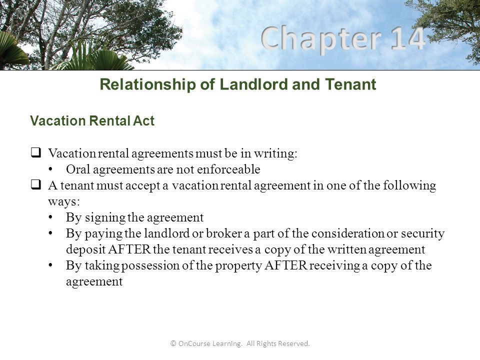 Relationship Of Landlord And Tenant  Ppt Download