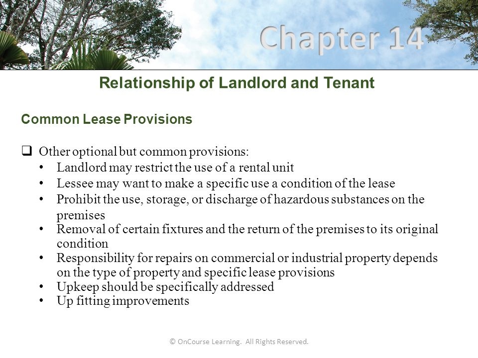 Relationship of Landlord and Tenant