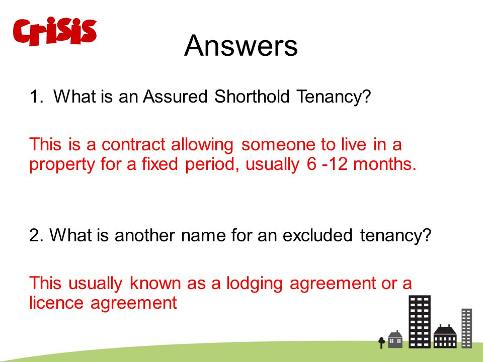 Answers What is an Assured Shorthold Tenancy