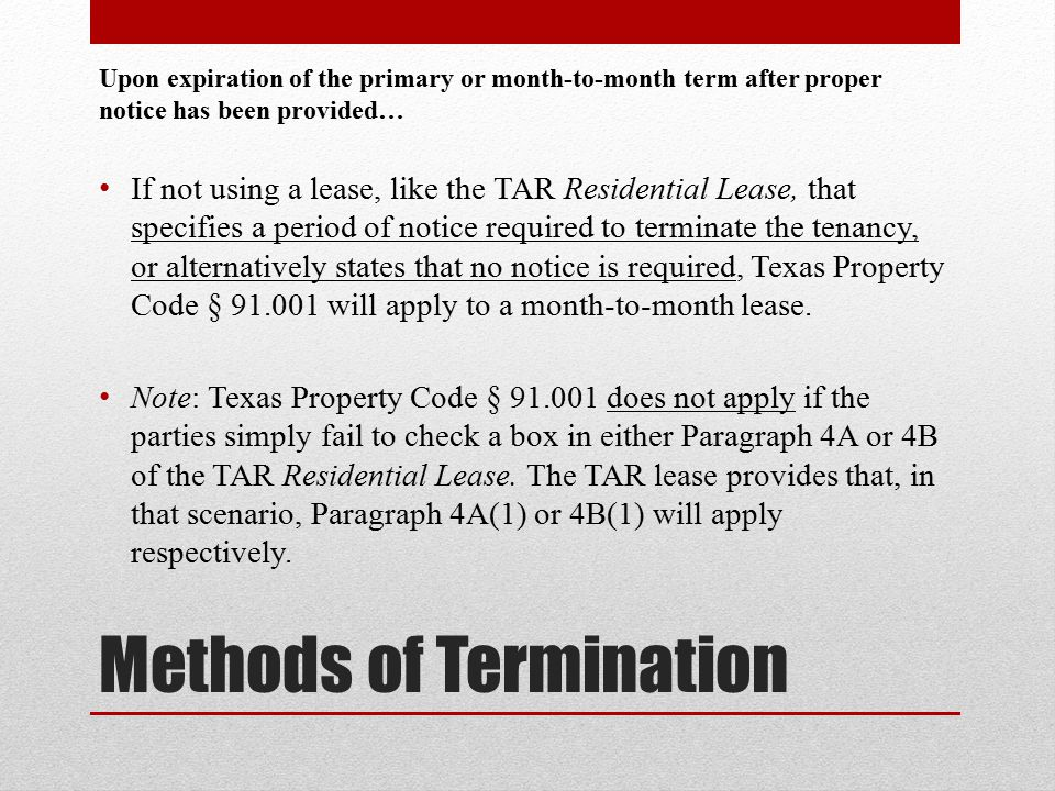 Lease Termination  Special Statutory Rights  Ppt Download