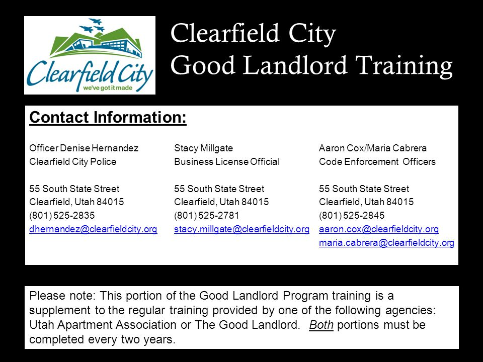 Good Landlord Training