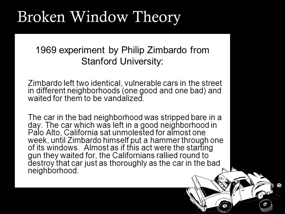 1969 experiment by Philip Zimbardo from