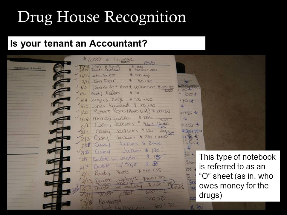 Drug House Recognition