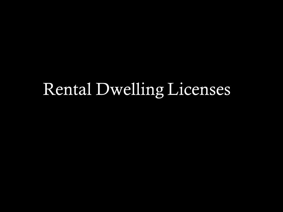 Rental Dwelling Licenses