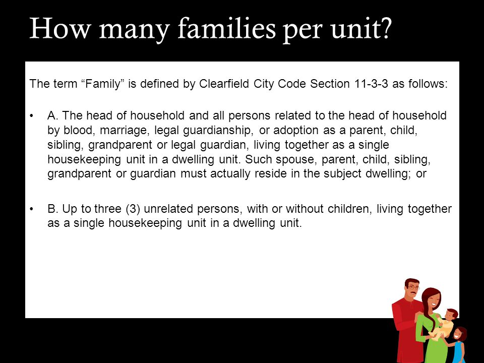 How many families per unit