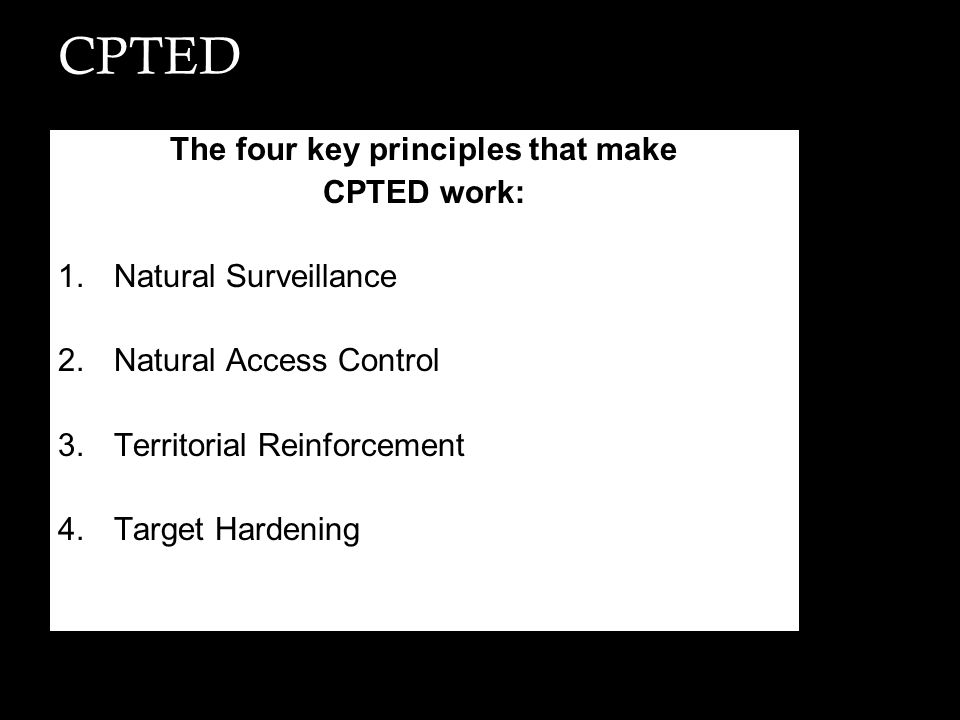 The four key principles that make