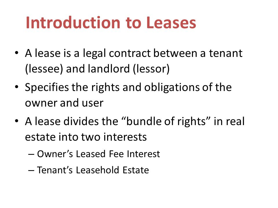 Introduction to Leases