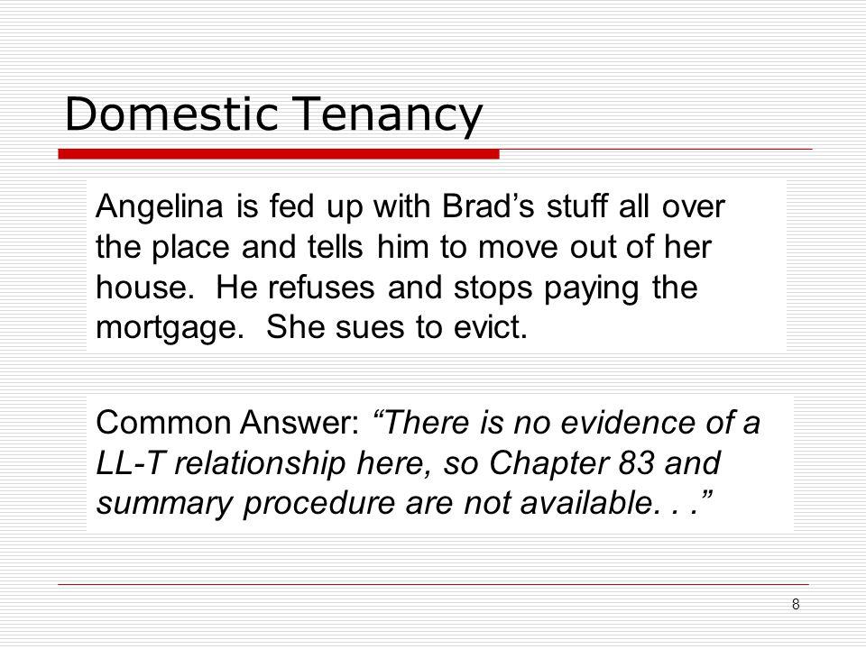 Domestic Tenancy
