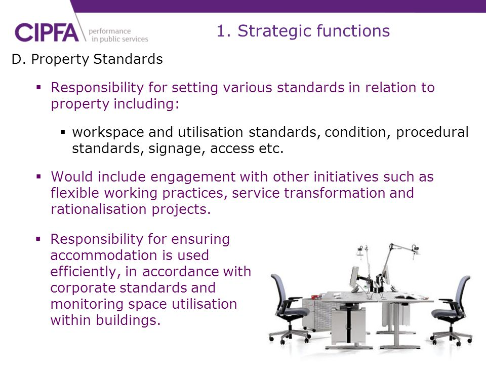1. Strategic functions D. Property Standards