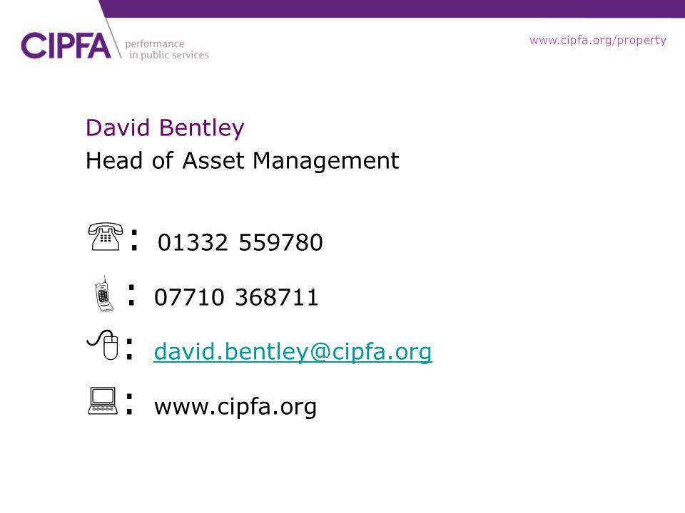 : david.bentley@cipfa.org : www.cipfa.org