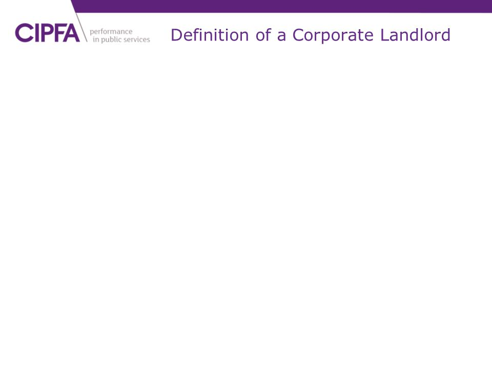 Definition of a Corporate Landlord