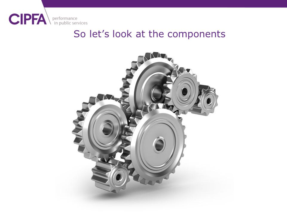 So let's look at the components