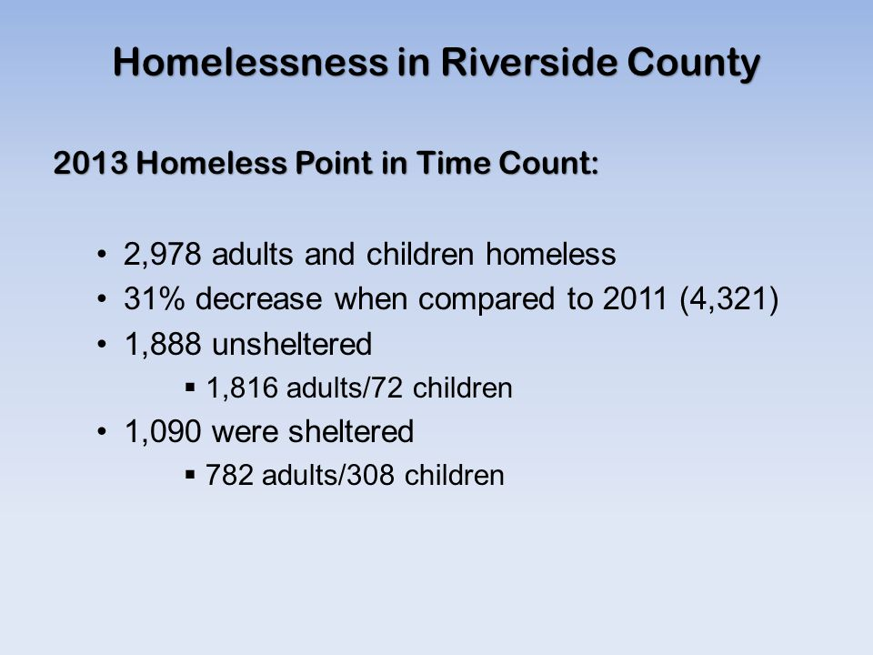 Homelessness in Riverside County