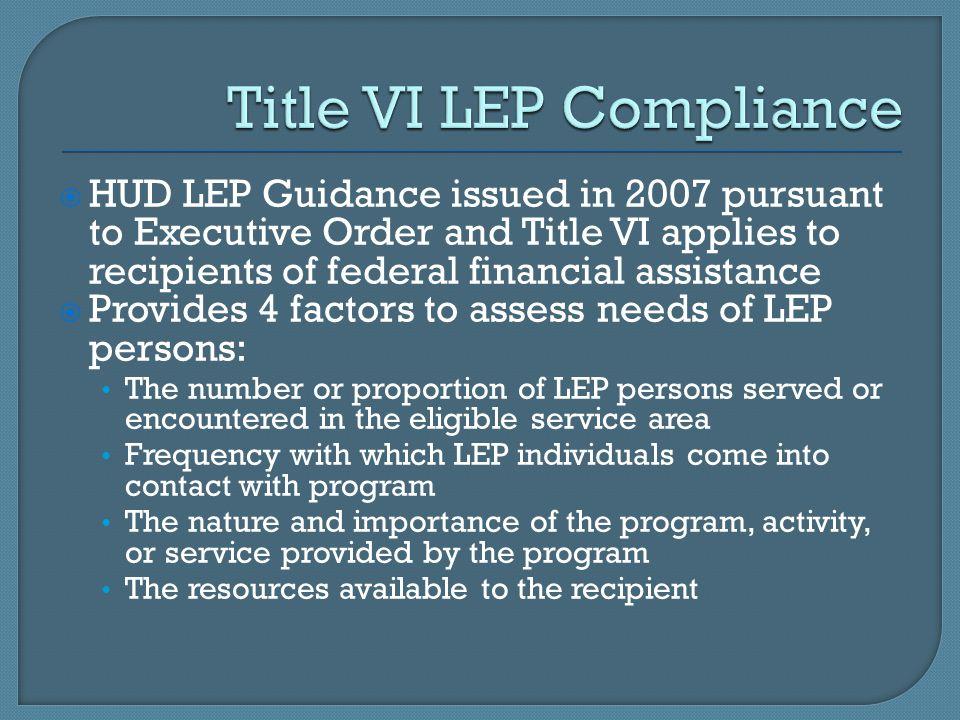 Title VI LEP Compliance