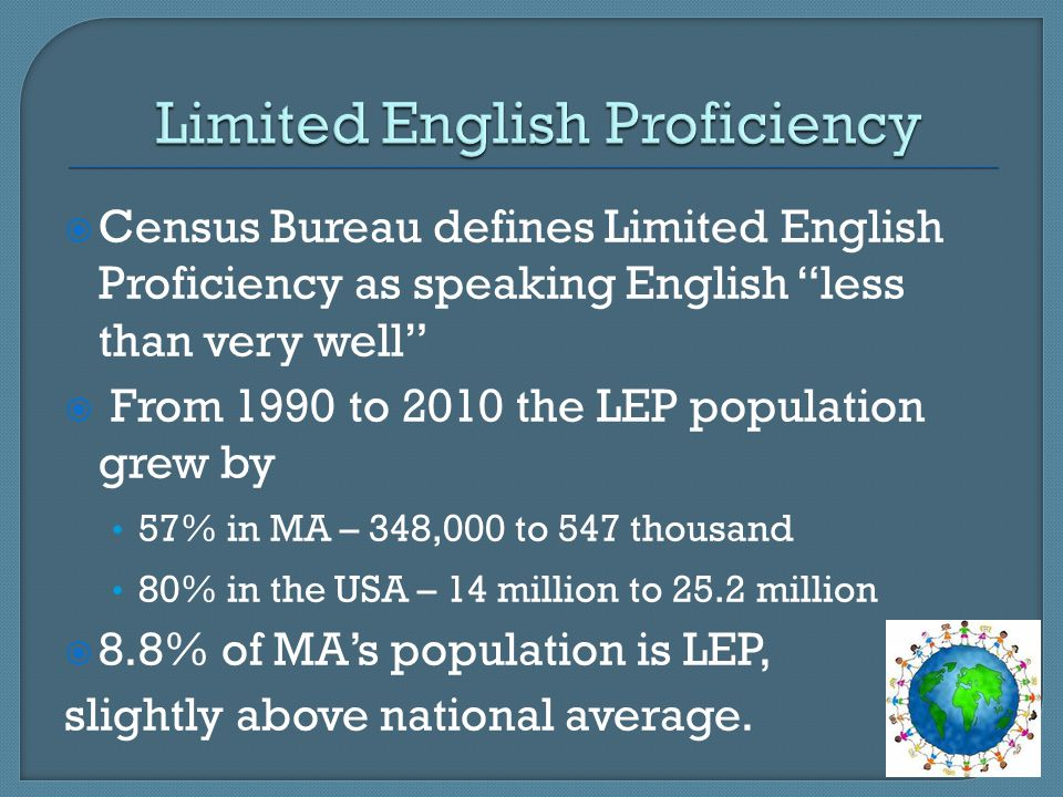 Limited English Proficiency