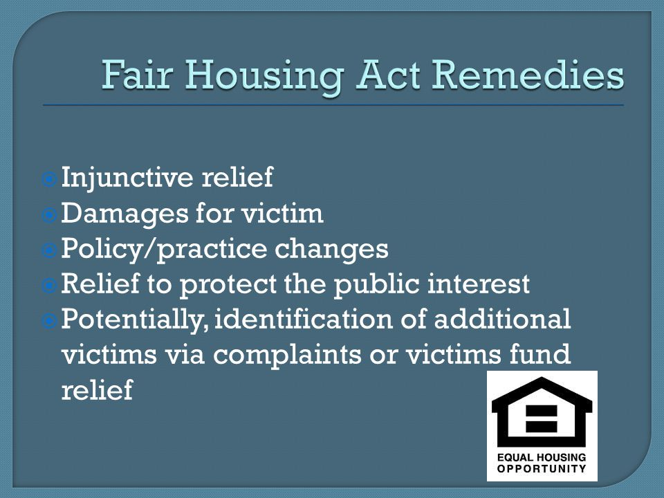 Fair Housing Act Remedies