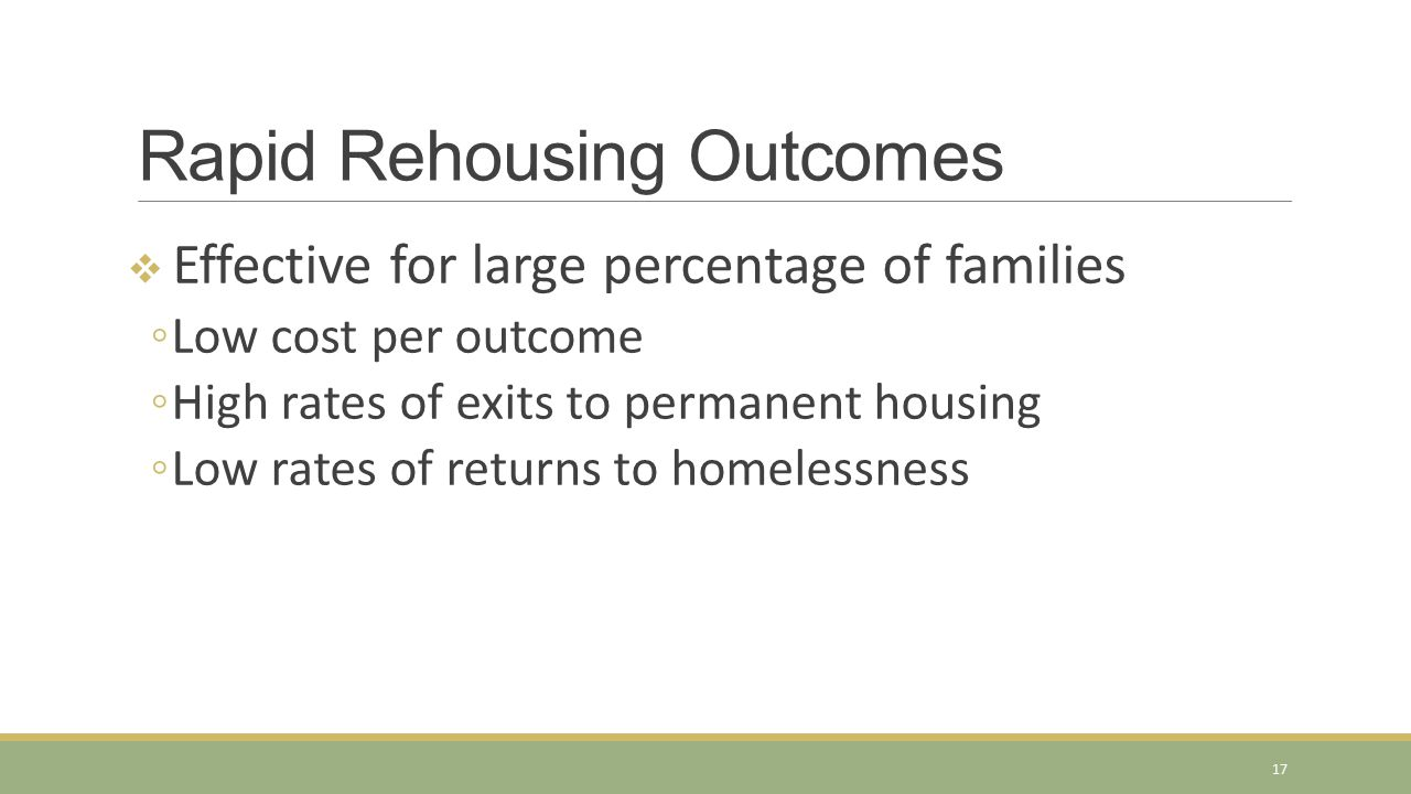 Rapid Rehousing Outcomes
